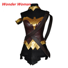 Halloween Batman v Superman:Dawn of Justice Soldiers Heroine Superwoman Wonder Woman Cosplay Costume Full Set For Adult