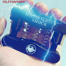 Surwish April Fool's Day Prank Trick Toy Electric Shock Hand Grips Funny Novelty Spoof Toy - Color Random(China)
