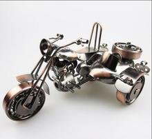 Creative Living Room Decoration Continental Decorations Home Office study Decoration Metal model motorcycle with sidecar