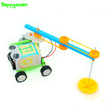 Happyxuan DIY Smart Self-made Sweeping Robot Model Student Creative Puzzle Science Environmental Protection Handmade Toys