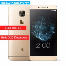"Original LeTV LeEco Le S3 X626 5.5"" 1080p 4GB RAM 64GB ROM Smartphone Helio X20 MTK6797 Deca Core 21.0MP Touch ID Mobile Phone"