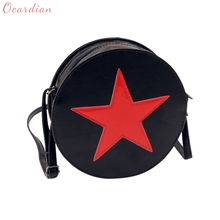 OCARDIAN Fashion Cute Luxury handbags Round Women Five Star Shoulder Bag Cute Circular Messenger Bags Summer Dropship 170710(China)