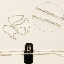1M Nail Art Chain Nail Art Tips Stickers Metal Glitter Striping Chain Decorations(China)