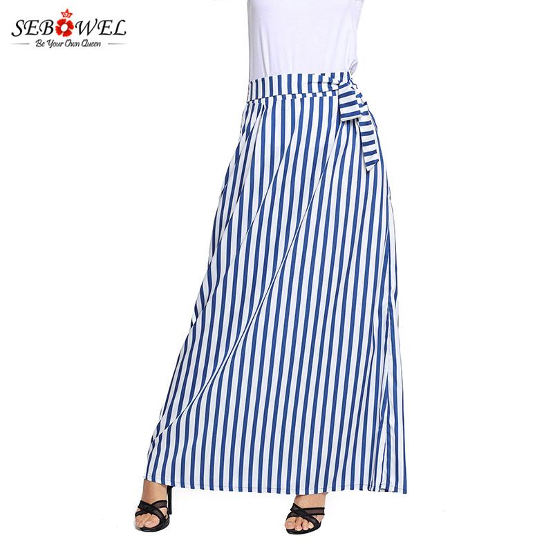 Light-Blue-Striped-Maxi-Skirt-LC65037-4-5