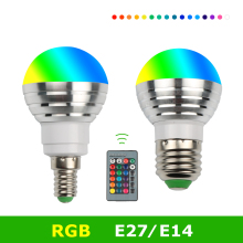 E27 RGB LED Bulb 220V 110V 16 Colors E14 Leds Bulbs For Home Decor Led Energy Saving Lamp 360 Degree 3W Ampoule Led Light