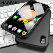 NAGFAK Luxury Soft Matte Back Silicon Cases For iPhone 7 8 6 6S Plus Case Full Cover Cases For iPhone X 8 7 6 Plus Phone Case(China)