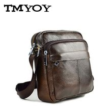 TMYOY small man brand Shoulder Handbag Vintage Messenger Bag Men's crossbody travel Bags Genuine Cowhide men Leather Bag BH706