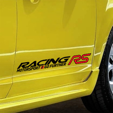 5 Pairs Customization RS RACING SPORT Car-Styling Door stickers Decal For FORD FOCUS 2 focus 3 Mondeo Fiesta Kuga MK2 MK3(China)