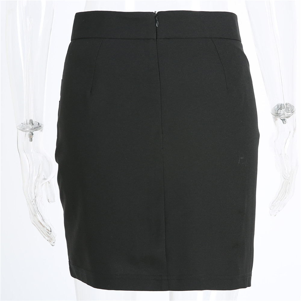 XS-5XL Plus Size Black Pencil Skirt Summer 2018 Bodycon High Waist Skirts Work Office Slim Women's Tight Sexy Mini Skirt Zevrez 13