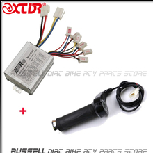 24V 500W Motor Brush Speed Controller & Electric Bike Scooter Throttle Twist Grips