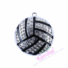 42*42MM 10Pcs/Lot Chunky Necklace Pendant Black Baseball Pendant Sport Inspired Pendant Boy Pendant Ebay Jewelry Supplier