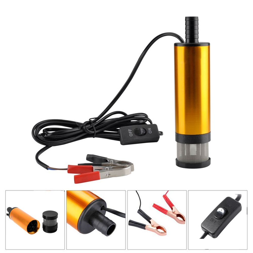 12V Car Electric Submersible Pump Diesel Fuel Water Oil Transfer Submersible Pump with On/Off Switch Oil Engine Transfer pump<br><br>Aliexpress