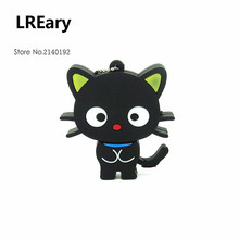 New Fashion Creative Black Cat usb flash drive pendrive memory stick cute pen drive usb 2.0 4GB 8GB 16GB 32GB chococat(China)