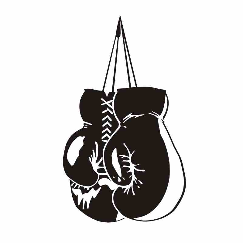 DCTAL Boxing Arm Glove Sticker Kick Boxer Play Car Decal Free Combat Posters Vinyl Striker Wall Decals Parede Decor