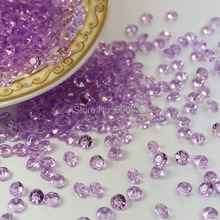 Free Shipping LANZZAY 2000pcs 4.5mm 1/3CT Lavender Acrylic Diamond Confetti Wedding Party Vase Decoration Table Scatters