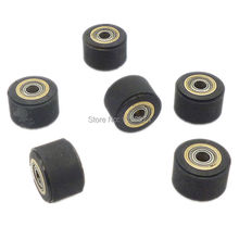 6x Hole Diameter 4mm Copper Core Pinch Roller 4x11x16mm For Roland Vinyl Plotter Cutter Cutting Engraving Machine Printer Parts