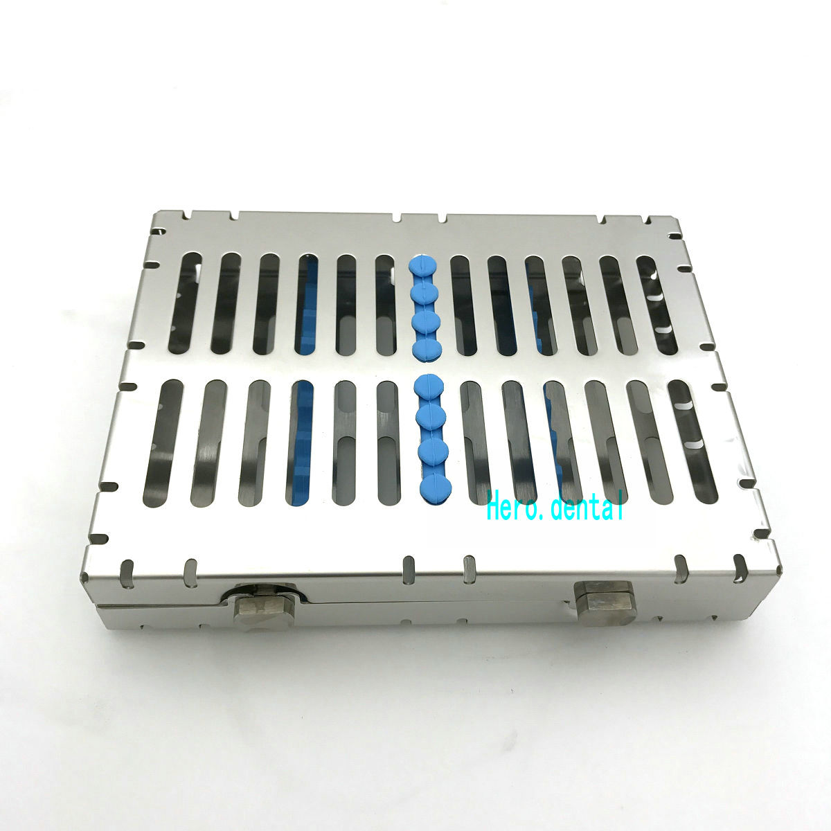 Dental Sterilization Cassette Disinfection Rack Tray Box For 10pc Instrument<br>
