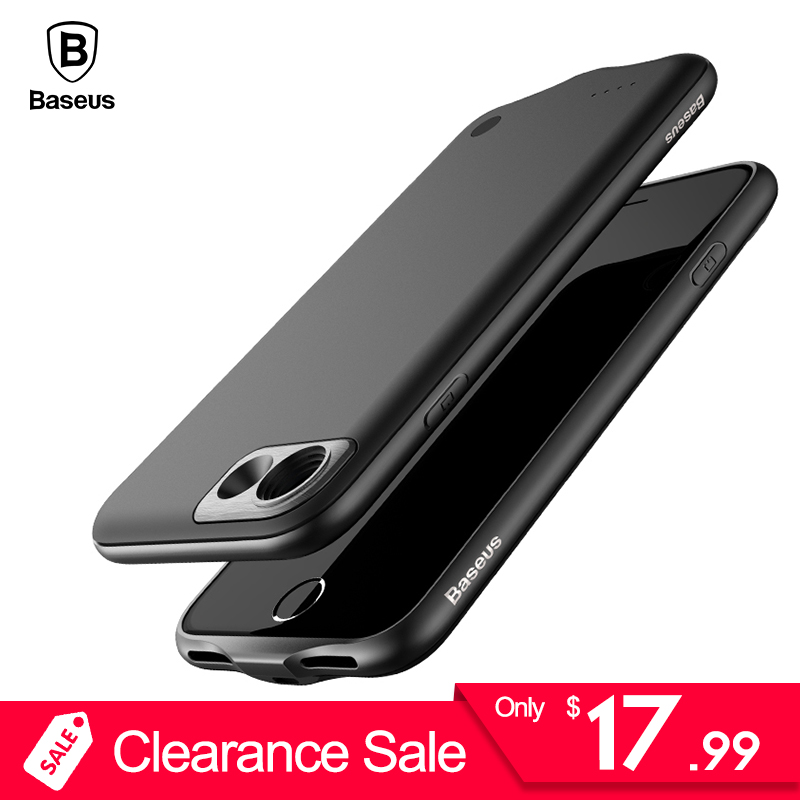 Baseus Battery Charger Case iPhone 8 7 Plus 2500/3650mAh Backup Powerbank Charging Case iPhone 8 7 External Battery Case