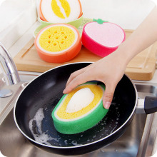 Sweet Fruit Thicken Sponge Brush Foam Dust Cleaner Pan Brushes Bowl Brush