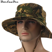 BooLawDee Summer camouflage bucket hat man cotton sun protection breathable large brim factory wholesale free size 58cm M327(China)