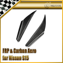 Car-styling For Nissan S15 JDM Type Carbon Fiber Front Bumper Canard In Stock