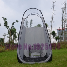 Silver grey 1 person pop up automatic portable SprayTanning tent with PVC roof top quality beach fishing outdoor camping tent(China)