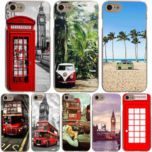 LONDON BUS summer car Cover Case for iPhone X 10 8 7 6 6S plus Cases for Apple 5 5S 5C SE 4 4S Coque Shell