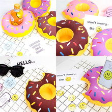 Inflatable Donuts Pineapple Flamingo Shape Floating Pool Water Summer Drink Can Toy Cup Holder Swimming Inflatable Party Decorat