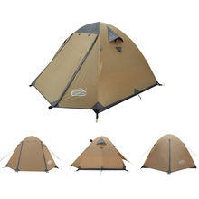 Camppal Camping Tent 4 Person Waterproof Outdoor Aluminum Tent Ultralight Double Layer Tent Winterized Tents