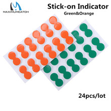 Maximumcatch 24pcs Green and Orange Self-Adhesive Foam Fly Fishing Stick On Strike Indicator Fishing Tool(China)