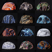 Paisley Floral Men Silk Satin Pocket Square Hanky Jacquard Woven Classic Wedding Party Handkerchief #RF1(China)