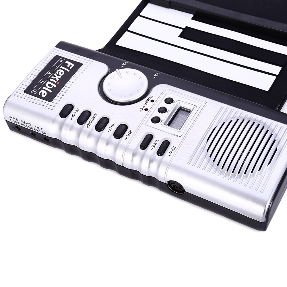 Portable 61 Keys Roll-up Keyboard Flexible 61 Keys Silicone MIDI Digital Soft Keyboard Piano Flexible Electronic Roll Up Piano (5)