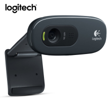 Logitech C270 Mini Webcam 720p Web Cam Usb Camera 3 Mega HD Video Webcamera for Smart tv pc Skype With MIC Micphone Original(China)