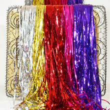 6 Colors 10CMx1M Metalic Foil Fringe Curtains Balloon Tassels Decor Party Decoration Supplies 100pcs/lot