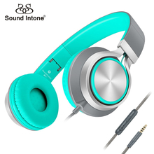 Sound Intone Headsets C8 Lightweight Foldable Headphones with Microphone and Volume Control for iPhone,Android Smartphones,Mp3
