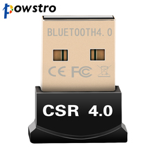 USB Bluetooth Adapter V4.0 Dual Mode Wireless Dongle Free Driver USB2.0/3.0 20m 3Mbps for Windows 7 8 10 XP Vista(China)