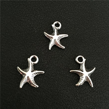 9pcs 14*16mm European Fashion Popular Marine Organism Antique Silver Sea Star Starfish Charms Diy Jewelry Findings Accessories