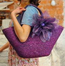 Straw Bag  New Hot Summer Fashion Beach Bags Woven Light Material Women Bag Free Shipping A1139