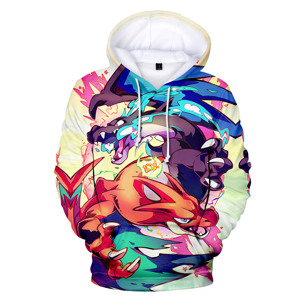 Hoodies & Sweatshirts Humor Mr.baolong Brand Clothing Harajuku Hoodies 3d Print Cartoon Anime Pokemon Sweatshirt Hooded Women Men Tops Pullover Clothing Beautiful And Charming