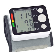 Free shipping Digital LCD Wrist Blood Pressure Monitor Tonometer Tensiometro Automatic Sphygmomanometer Blood Pressure Meter(China)