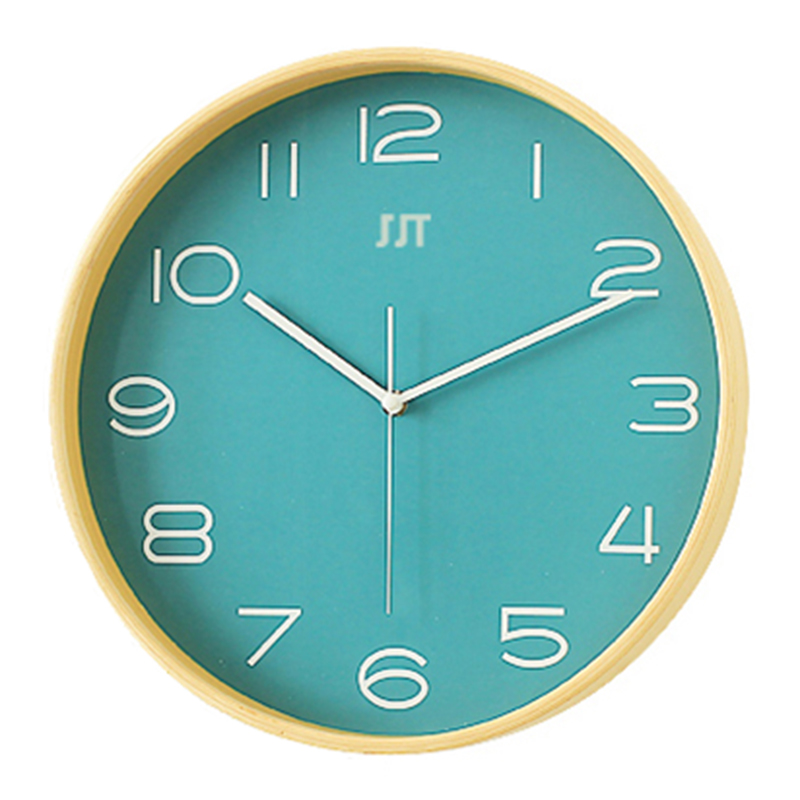 "Round Silent Quartz Sweep Movement Modern Wall Watches Home Wooden Wall Clocks 8"" 12""(China)"