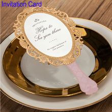 Romantic Inviting Card Mirror Christmas Elegant Laser Cut Paper Decoration Favors And Gifts Lover Party Wedding Invitation(China)