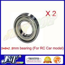 F02097-2 2pcs 5x8x2.5 mm Double Bearing For RC Model Car 5*8*2.5mm + FS