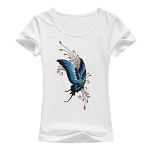 Beautiful butterfly t shirt women New fashion colorful sumer kawaii shirt Brand Good quality fashion casual Femme cute tops A50