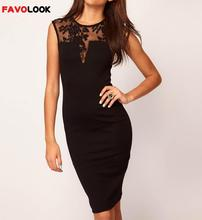 2018 Women Dress Sleeveless Slim Hip Sexy Lace Dress Bodycon Dresses Women Cocktail Party Dresses Vestidos(China)