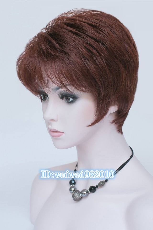 New Arrival  Womans Copper - red short straight hair  wig  HEAT - RESISTANT FIBER Quality Assurance  fast Shipping<br><br>Aliexpress