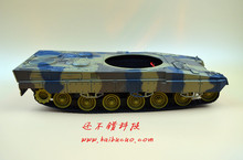DIY 61 Light shock absorption Plastic Tank Chassis with Rubber Crawler belt Tracked Vehicle(China)