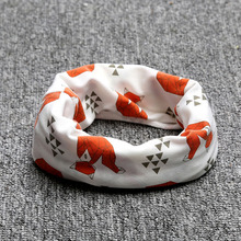 Cotton Baby Scarf Tiger Panda Tent Print Kids Scarves Winter Children Collars Boys Girls Animal O Ring Neckerchief BZ932598