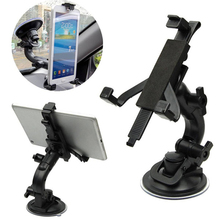 "1 pcs fashion hot sales black Mobile Phone Holder Stand Bracket for 5""~8"" Tablet Hot Car Windshield Mount"