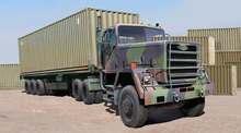 1/35 Scale TRUMPETER 01015 M951 Tractor With M872 Flatbed Trailer 40FT Container Plastic Model Building Kit(China)